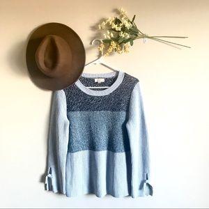 NWOT LOFT Color Block Tie Sleeve Sweater